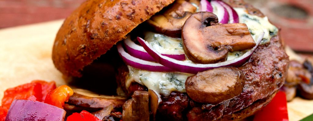 Blue Cheese Beef Burgers