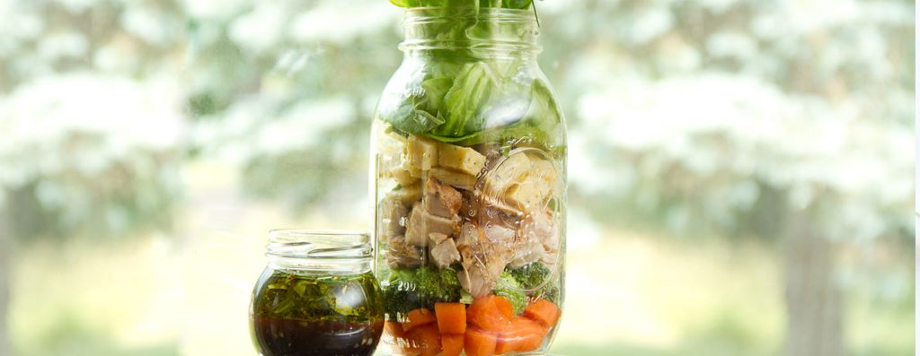 Salad In A Jar Food-Prep With DIY Vinaigrette Dressing