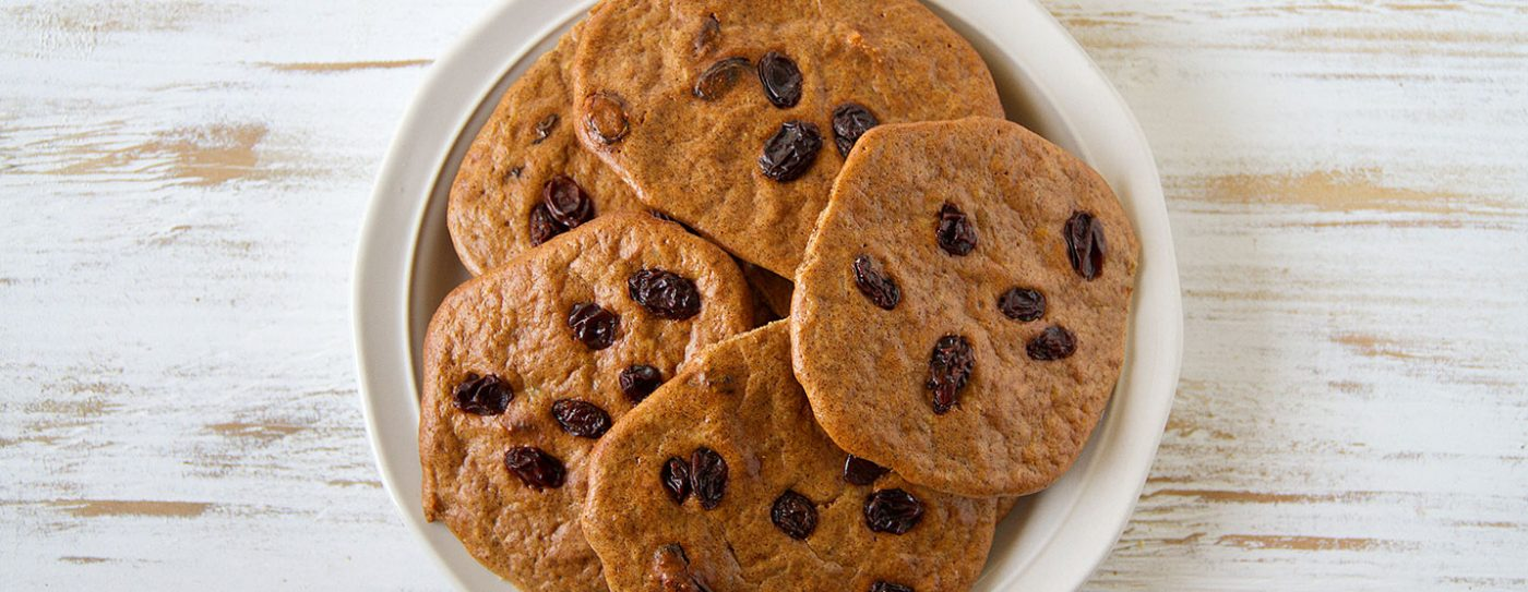 Cinnamon Raisin Protein Cookies